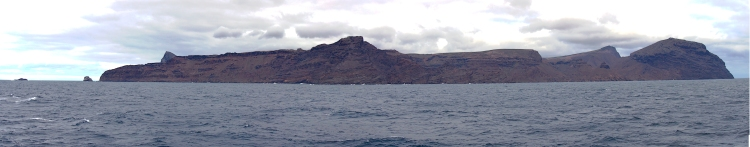 St Helena as approached from the South.