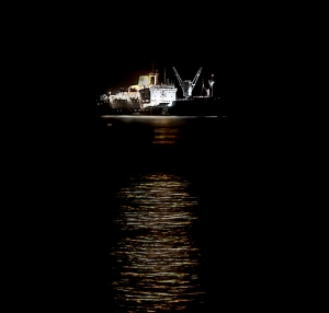 A stunning sight at night anchored in James Bay