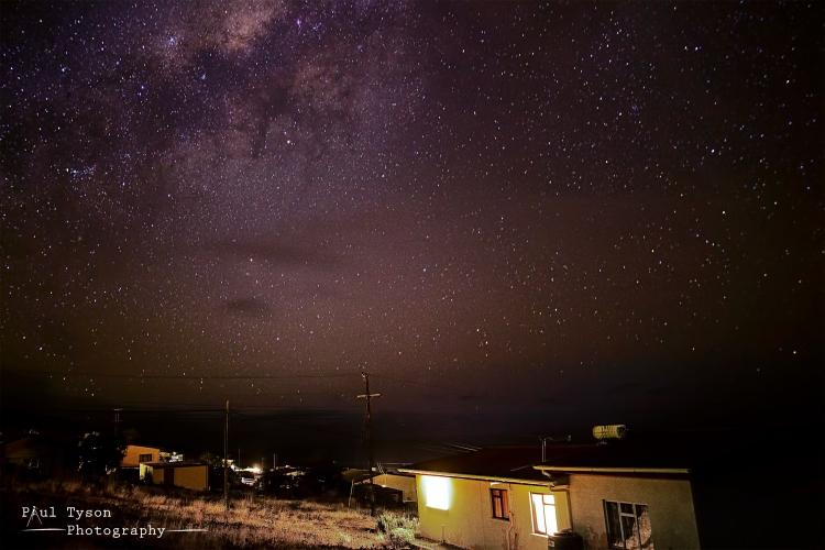 Night sky at Half Tree Hollow St Helena