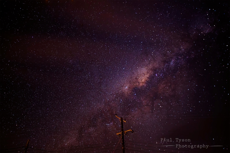 Night sky Milky Way St Helena