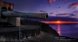 World War Two Cannons sat at Ladder Hill, Stunning Views.