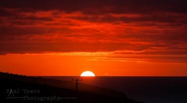 Sunset at Sea on St Helena Island 2