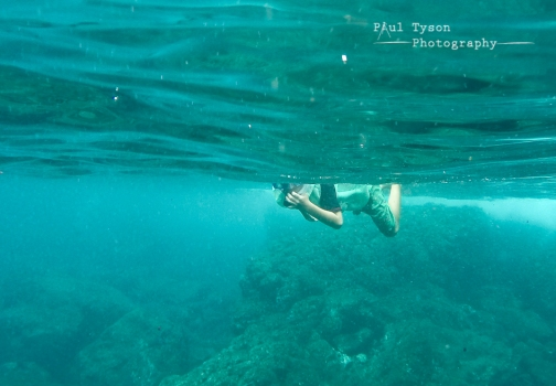 Finally got a go pro. Getting to grips with the settings but a shot of Oliver snorkelling at Lemon Valley