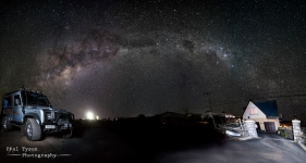 Another shot of our neighbours. This time an 16 shot panorama with a double exposure for the car.