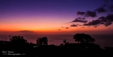Sunset St Helena Island