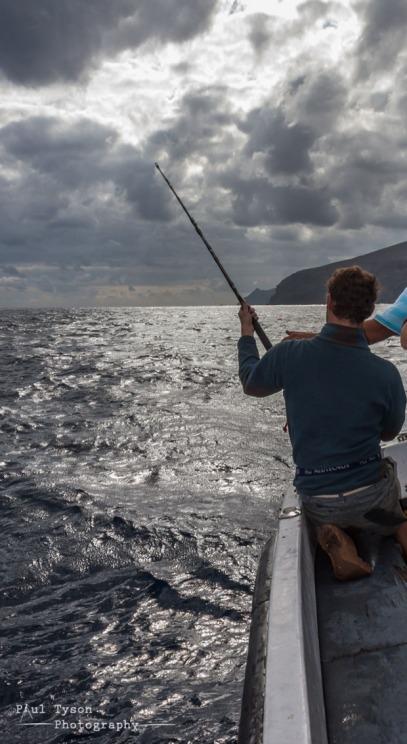 Me pulling in a nice Yellow Fin Tuna