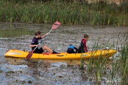 Bevs get the canoe stuck in the reeds ; )