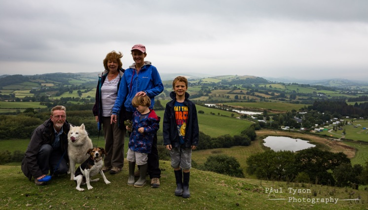 My Mum and Dad with Oliver, Charlie and Bev. The lovely husky Esme, and my dog, Ned.