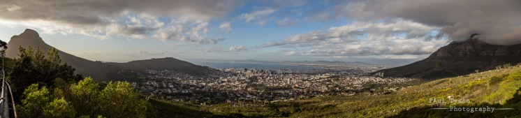 Panoramic views from the foot of Table Mountain.