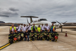 Crew, Airport firefighters, Basil Read Bosses.