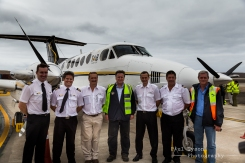 The crew with Governor Mark Capes