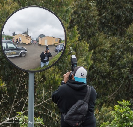 Selfies in the new road mirrors were popular.