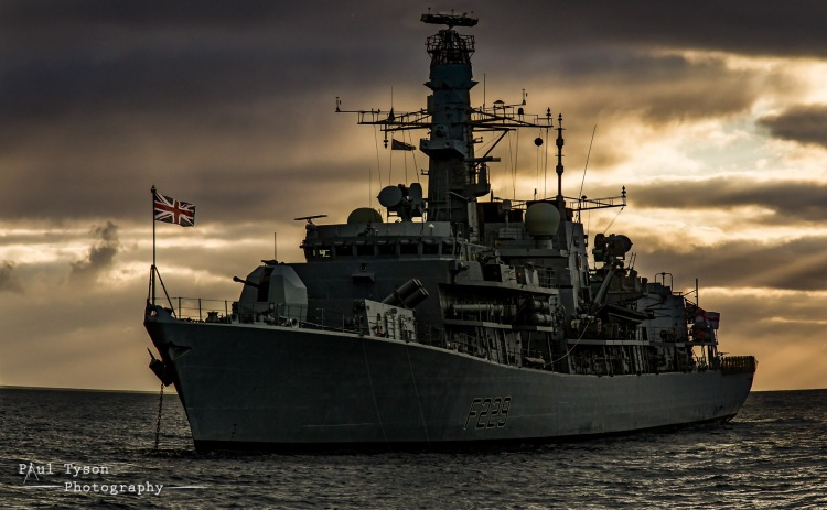HMS Lancaster in James Bay St Helena