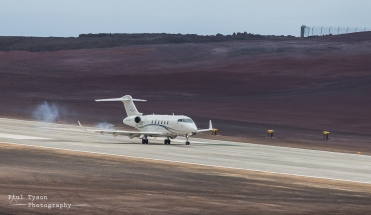 Touchdown! The first ever Jet Plane on St Helena