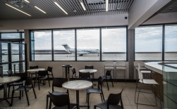 Departures lounge, time for one last St Helena coffee before you leave?