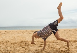 Cartwheels on the beach,