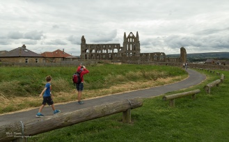 Whitby Abbey and the weather took a turn for the worse.