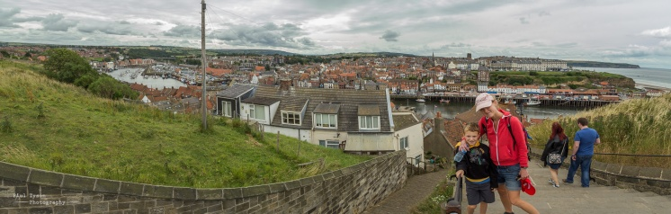 The popular seaside town of Whitby, lovely, but so overcrowded!